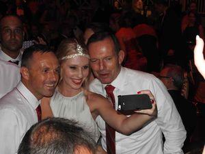 Tony Abbott swamped at 10th Dance for Daniel