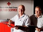 BLOOD HEROES: Robert Preston, of Coorabell, and Jim Rafton, of Brooklet, have broken personal milestones after donating blood for more than a century.