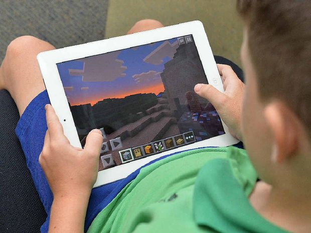 SCREEN TIME: Video games like Minecraft are popular with children.