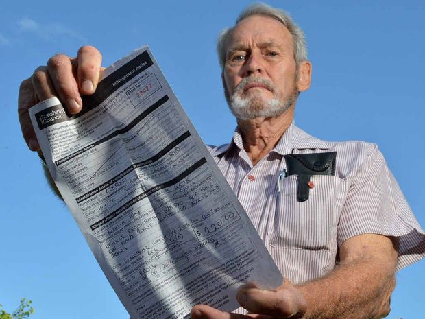 ANGRY: Frank Ross's $220 fine for trying to sell his caravan escalated to almost $2500 after he fought the matter in court.