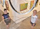 """Hervey Bay Regional Gallery exhibition - """"Vessel"""" by local artists (L) Susie Lewis from Toogoom and Hayley Groves George from Maryborough. Photo: Alistair Brightman / Fraser Coast Chronicle"""