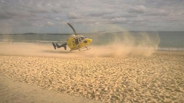 Ultra light plane crash Noosa beach