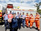 Senior Constable Melanie Ryan, with SES and Qld Fire and Rescue at the Wide Bay Burnett Police District Stop the Fatal Five campaign at Torbanlea.