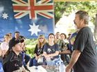 AUSTRALIA PROUD: Don Whitbread organiser of the Reclaim Australia Rally at Laurel Bank Park . Saturday, Apr 04 , 2015 . Photo Nev Madsen / The Chronicle