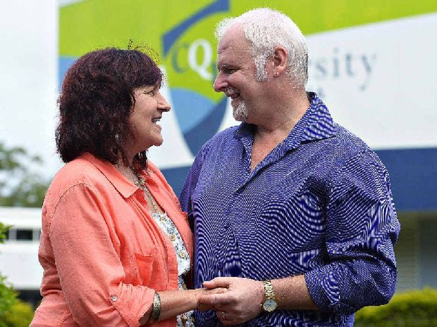 LESSON IN LOVE: Debbie and Michael Bradley met at CQUniversity, studied, fell in love and were then married.