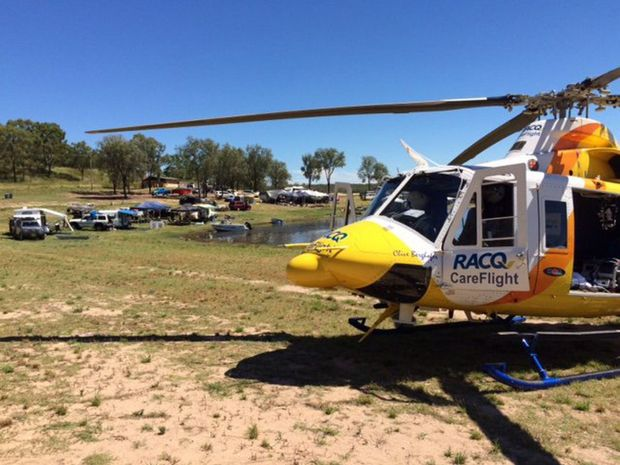 A teenager was airlifted from Boondooma Dam after a quad bike accident. Photo Contributed