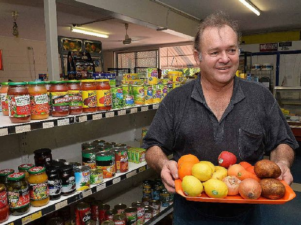EASTER BREAK: No rest for small business owner Darryl Humphreys who spent Easter Monday at work, even putting out fresh produce at his Milton St Mini Mart and Takeaway store.