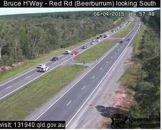 Traffic Bruce highway Beerburrum 3pm