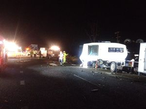 Driver killed in two-truck crash north west of Gympie