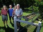 Concerned Kruger Street, Booval residents Al Smith, Paul Denman, Phil Smith and Bill McCrea 
