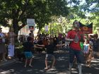 Protest outside Tony Abbott's lunch at Hasting St Noosa.