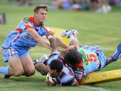 FOLLOWING an aggressive off-season recruitment drive, West End lived up to expectations in the first game of Ipswich Rugby League's triple header on Saturday.