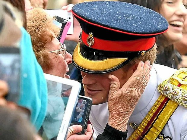 PRINCELY PECK: Warwick granny Norma McLennan appears in Woman's Day after she kissed Prince Harry on the cheek.