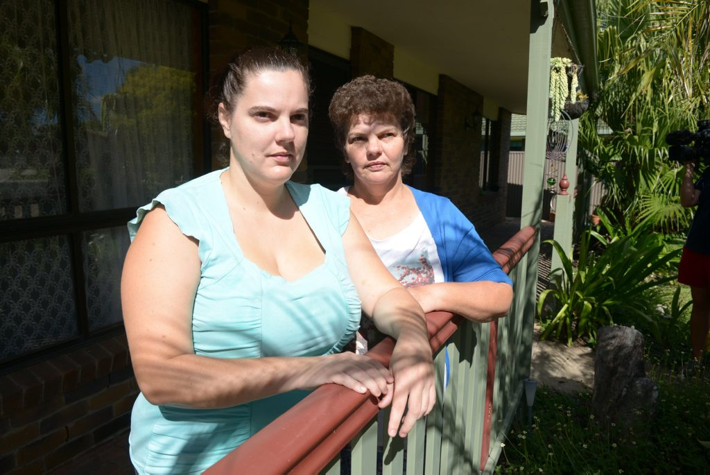 COPS CALLED: Neighbours Amanda and Jennifer Ryan didn't get much sleep on Wednesday night when a out-of-control house party in Cheetham Court North Bundaberg with over 100 youths kept everyone awake with loud music, fights and obnoxious behaviour. Photo: Max Fleet / NewsMail