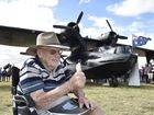 Oakey fly-in . Geoff Dickins was a gunner during WW2 on a Cataline Photo Bev Lacey / The Chronicle