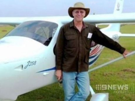 Yandina pilot Rob Pavan. Photo: Nine News