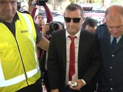 Phil Rudd arrives at court in 2015.