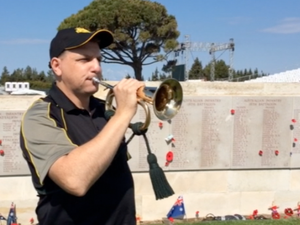 Meet the bugler who will play The Last Post at Gallipoli