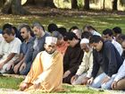 Imam Abdul Kader led Friday prayers in Newington Park.