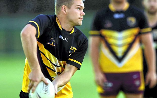 DEBUT: The Outlaws' Jordan Ryan, seen here in pre-season training for the Sunshine Coast Falcons at Sunshine Coast Stadium, was one of the standouts in Saturday's game.