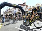 Riders take off at the start of the Ipswich Festival Criterium in the top of town on Saturday. Photo: Rob Williams / The Queensland Times
