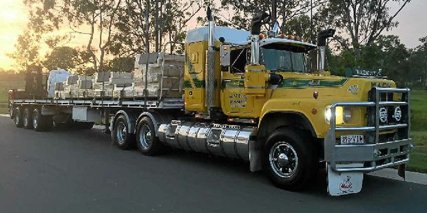 FAMILY TREASURE: Ricky Blazely's 1989 V8 Mack Valueliner has seen some country from hauling triple road train fuel tankers out west to pulling oversize loads between Darwin and Tennant Creek.