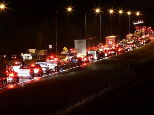 GET USED TO IT: Flooding brought the Bruce Hwy to a standstill at the weekend cutting off thousands of people from the Sunshine Coast.