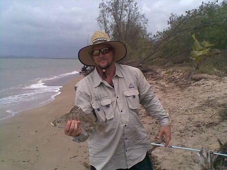 Ken Jack at Murrie Creek fishing.