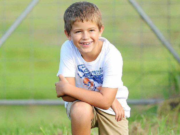 HELPING HAND: There will be a garage sale for Lawrence boy Bryce Cranney this weekend.