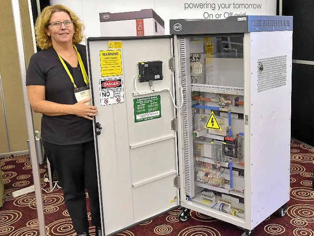 POWERED UP: Lynda Kirton from All Energy HQ with the HQ Energy Hub.