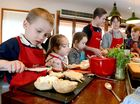 Jamie's Ministry of Food in Ipswich held Food Revolution Day to get young kids cooking healthy. 4 year old Ethan Foxcroft got right into it. Photo: Kate Czerny / The Queensland Times