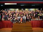 PLAY IT BACK: North Bundaberg High School students rehearse for Back to the 80s the Totally Awesome Musical on Thursday, 21 May 2015. Photo: Max Fleet / NewsMail