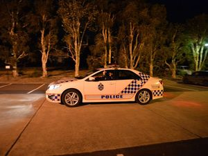 Police helicopter tracks suspected gunman over Maroochydore