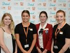 Attending World Vision Youth Conference are Malney State High School student, Chloe Harney, ambassador, Clea Denham, St Andrews School, Mia Fitzgerald and ambassador Nicola Greatbatch, Photo Patrick Woods / Sunshine Coast Daily