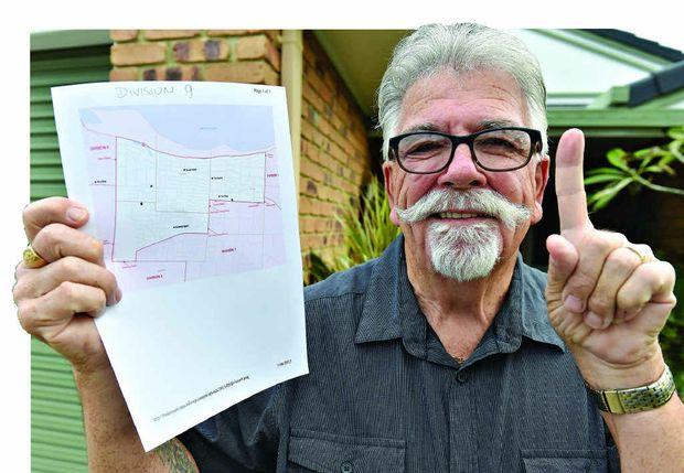 VOTE ONE: Division nine resident Gary Smith is running for the Fraser Coast Regional Council but doesn't want to be paid for his work.