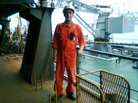Raul Vercede before he began working aboard the Sage Sagittarius.