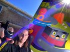 COLOURFUL APPROACH: Conrad Square revs up for the Street Art Project in Maroochydore this weekend.