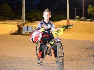 Koby Brine shows off his Redline BMX