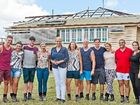 TOOGOOM TALENT: Channel 7's House Rules contestants with Johanna Griggs.