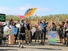 Campaigners protest against expansion at Abbot Point