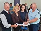 FORUM: Gympie MP, Tony Perrett with Shadow Minister Tracy Davis, Bernadette Wright, Officer-in-Charge of Gympie police Senior Sergeant Gregg Davey.