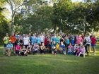 PARK RUNNERS: Keen runners and joggers this morning took part in the two year birthday run which kicked off at 7am.