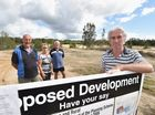 Burrum Heads development - local residents (L) Richard Fowler, Jane Burgess, Andy Hill and Jim Hagen are upset with the development proposal. Photo: Alistair Brightman / Fraser Coast Chronicle