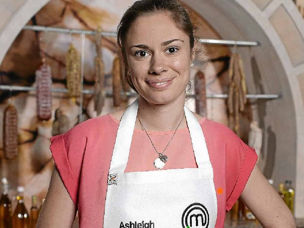 HIGH PRAISE: Ashleigh Bareham from Buderim is in a prime position on MasterChef.