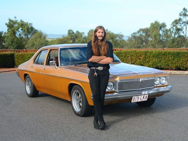 Adam Shiberras and his 1976 HX Holden.