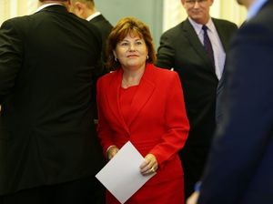 Minister for Police, Fire and Emergency Services, Minister for Corrective Services and Bundamba MP Jo-Ann Miller at the official swearing-in ceremony when Queensland Parliament resumed in Brisbane. Photographer: Liam Kidston. POOL IMAGES: FREE FOR EDITORIAL USE IN PRINT AND ONLINE