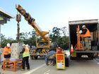 State of the art equipment is unloaded at the new Mater Private Hospital in Springfield on Thursday morning. Photo: Rob Williams / The Queensland Times