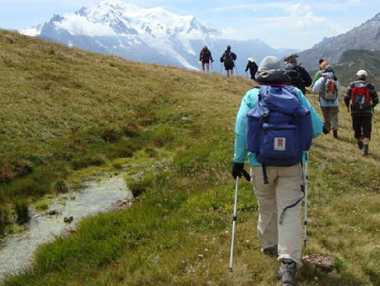 Hiking tours are very popular in Europe and why wouldn't they be when you get views like this of the Mont Blanc range in France. PHOTO: CONTRIBUTED