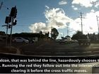 A screenshot from the second edition of Toowoomba Driver Education's Toowoomba: Bad Drivers Exposed series.