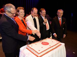 Band plays at Centre's 40th